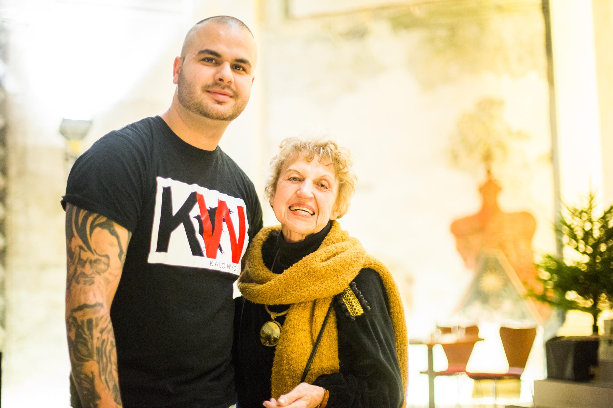 Paní Eva Davidová a rapper Kalo Wyo