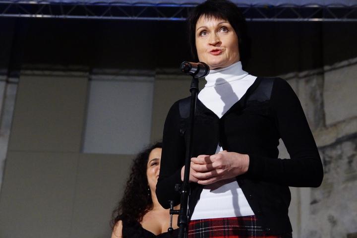 Simona Kaňoková, zástupkyně partnera Nadace ČEZ, promluvila o smyslu finanční pomoci firem na konkrétní účel.