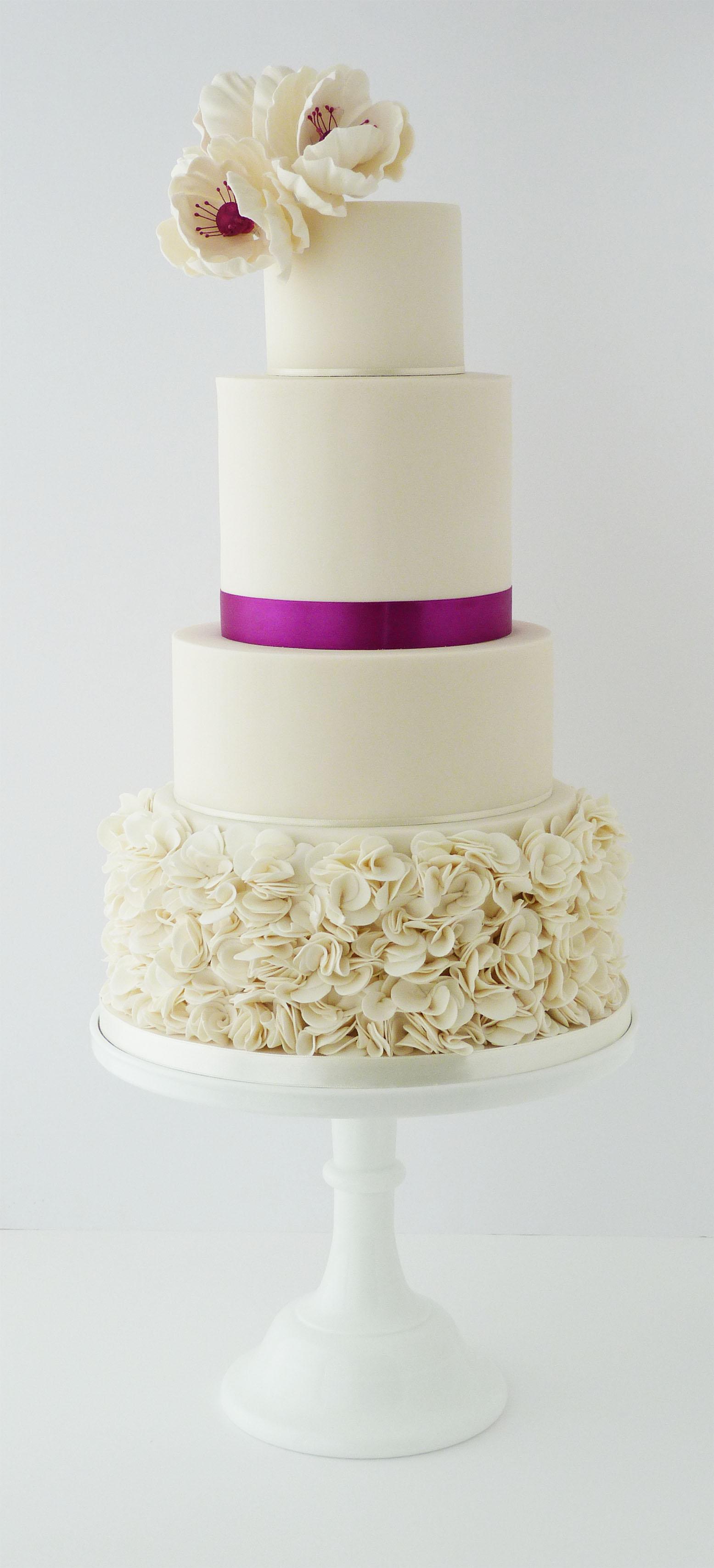 Stephanie and Mark ruffle wedding cake.jpg