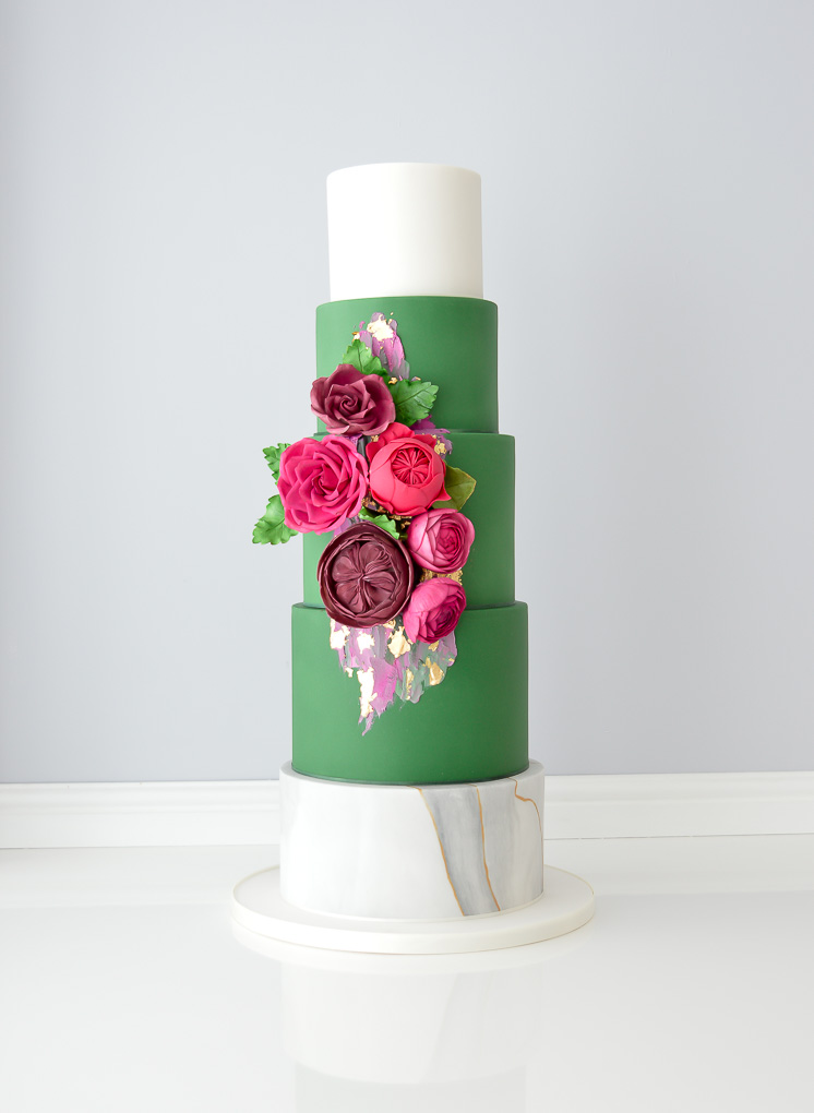 Jewel tone wedding cake.jpg