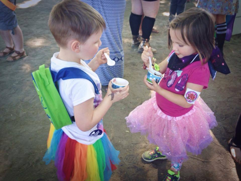 Hailey with her gender-fabulous friend Elliott