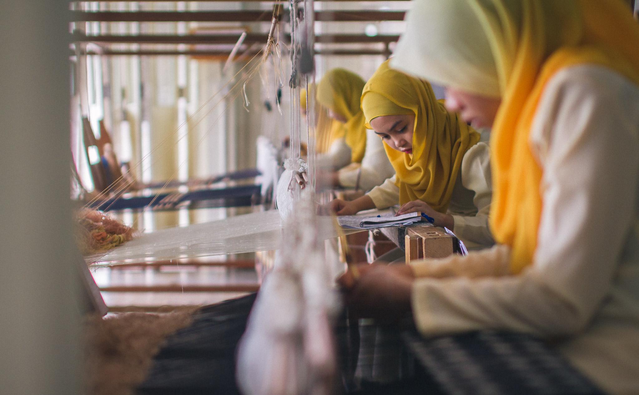 Tanoti artisans at work in Sarawak, Malaysia