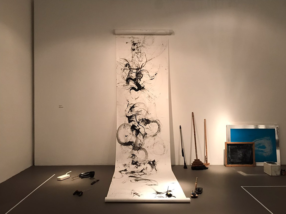 Shih Yun Yeo,  Robot Painting and Other Tools,  Chinese Ink on Paper
