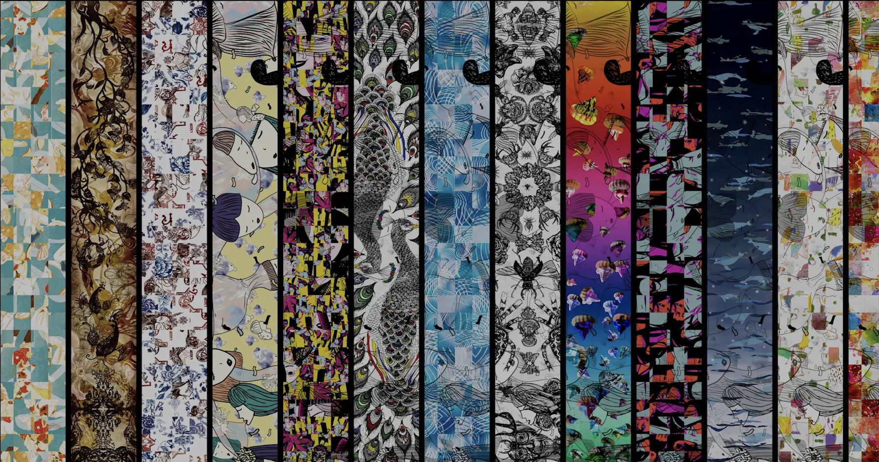 A collection of digital artworks by NTU Professor Ina Conradi and her students