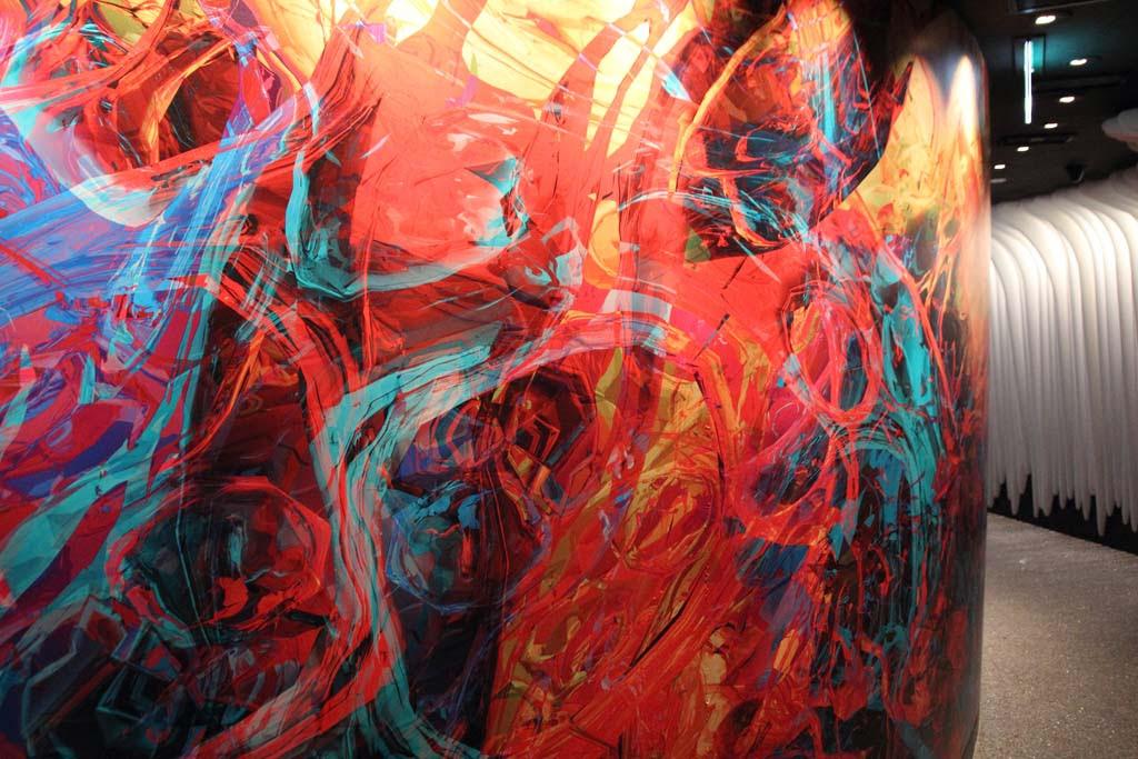 Artwork by Ina Conradi found at the Zouk Nightclub