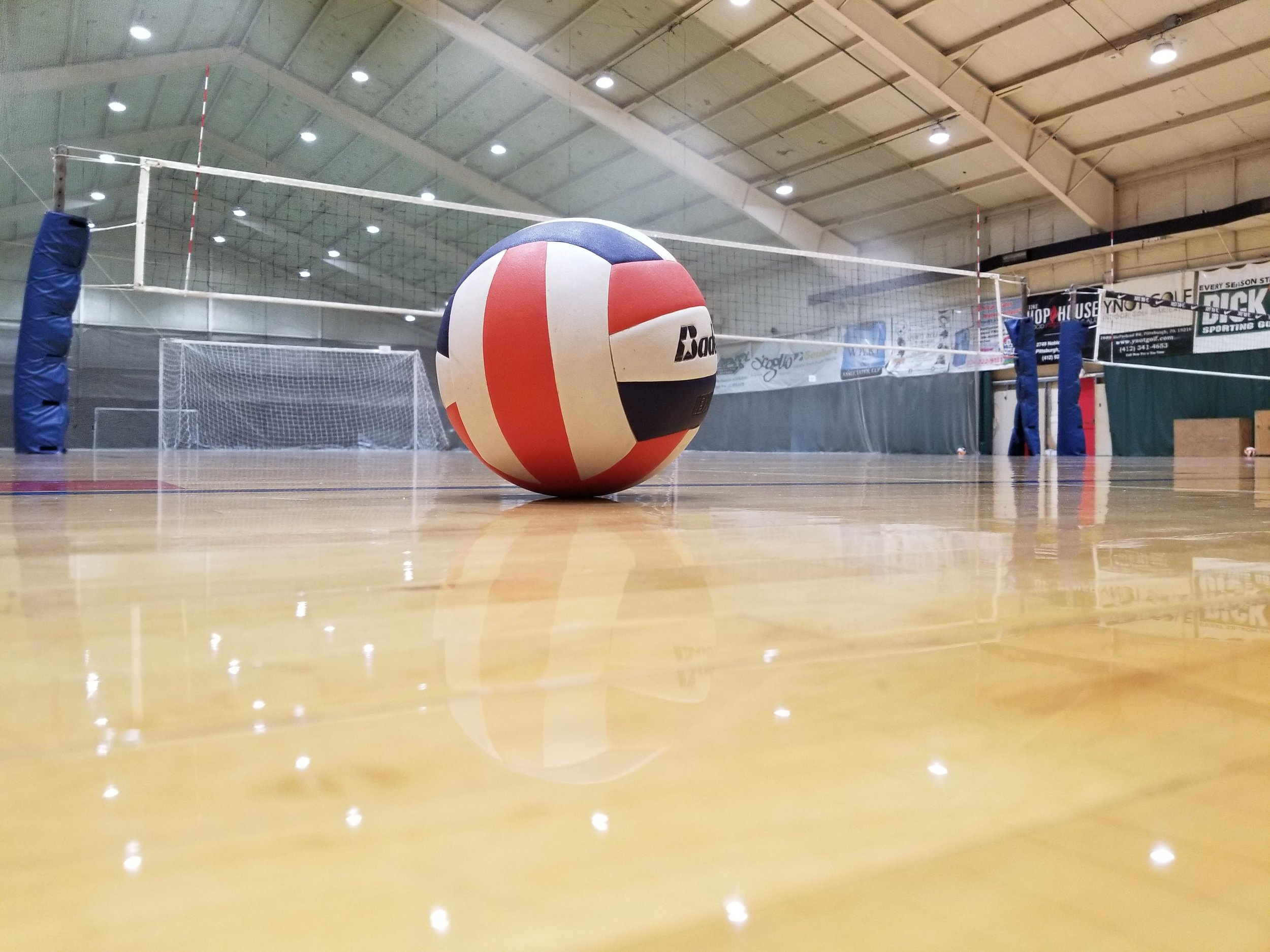 Three Volleyball Courts