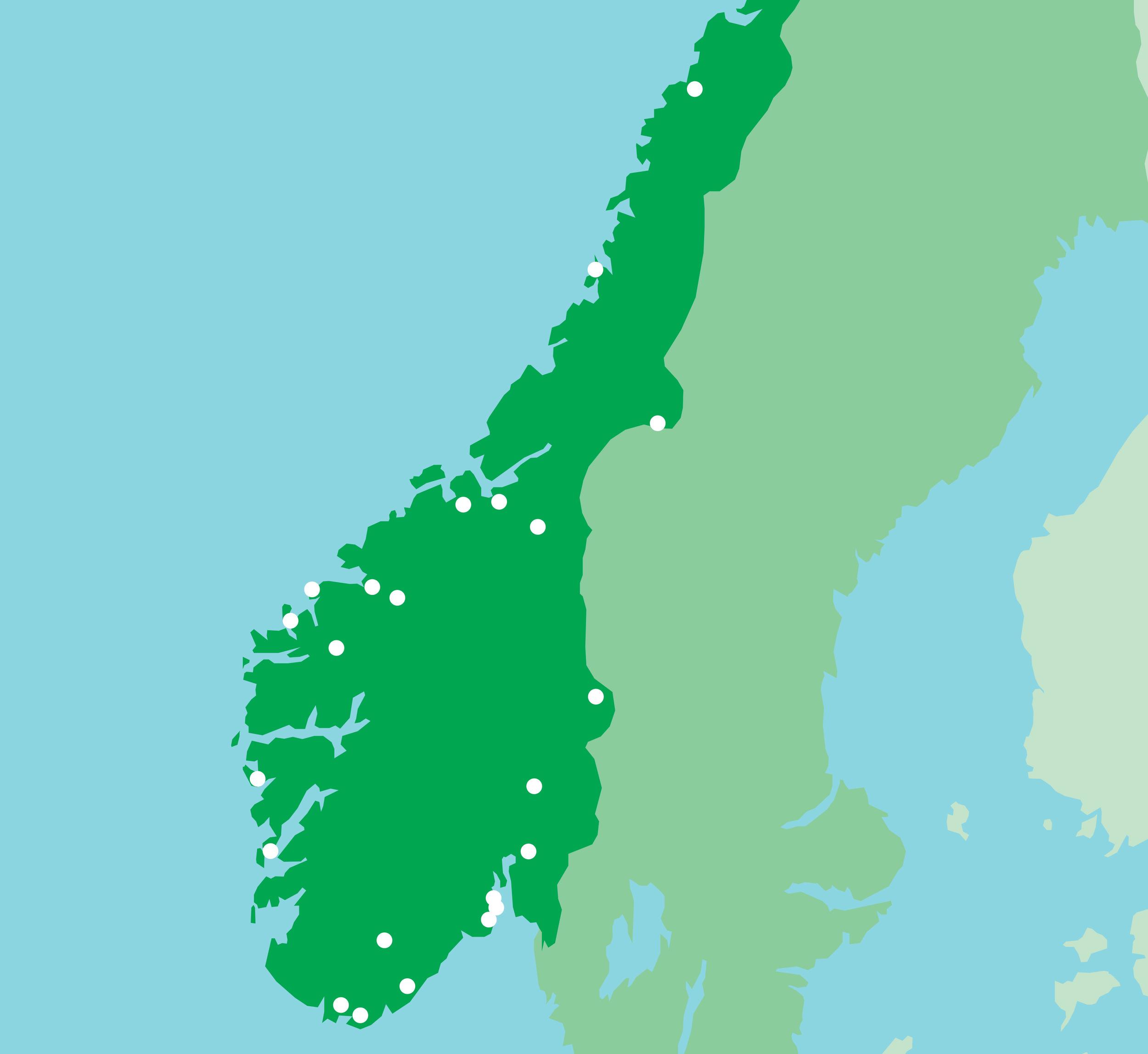 Genressursreservatene i Norge er fordelt på 11 fylker, nord til og med Nordland, og valgt ut på bakgrunn av felleseuropeiske kriterier og i samarbeid med aktuelle fylkesmenn.