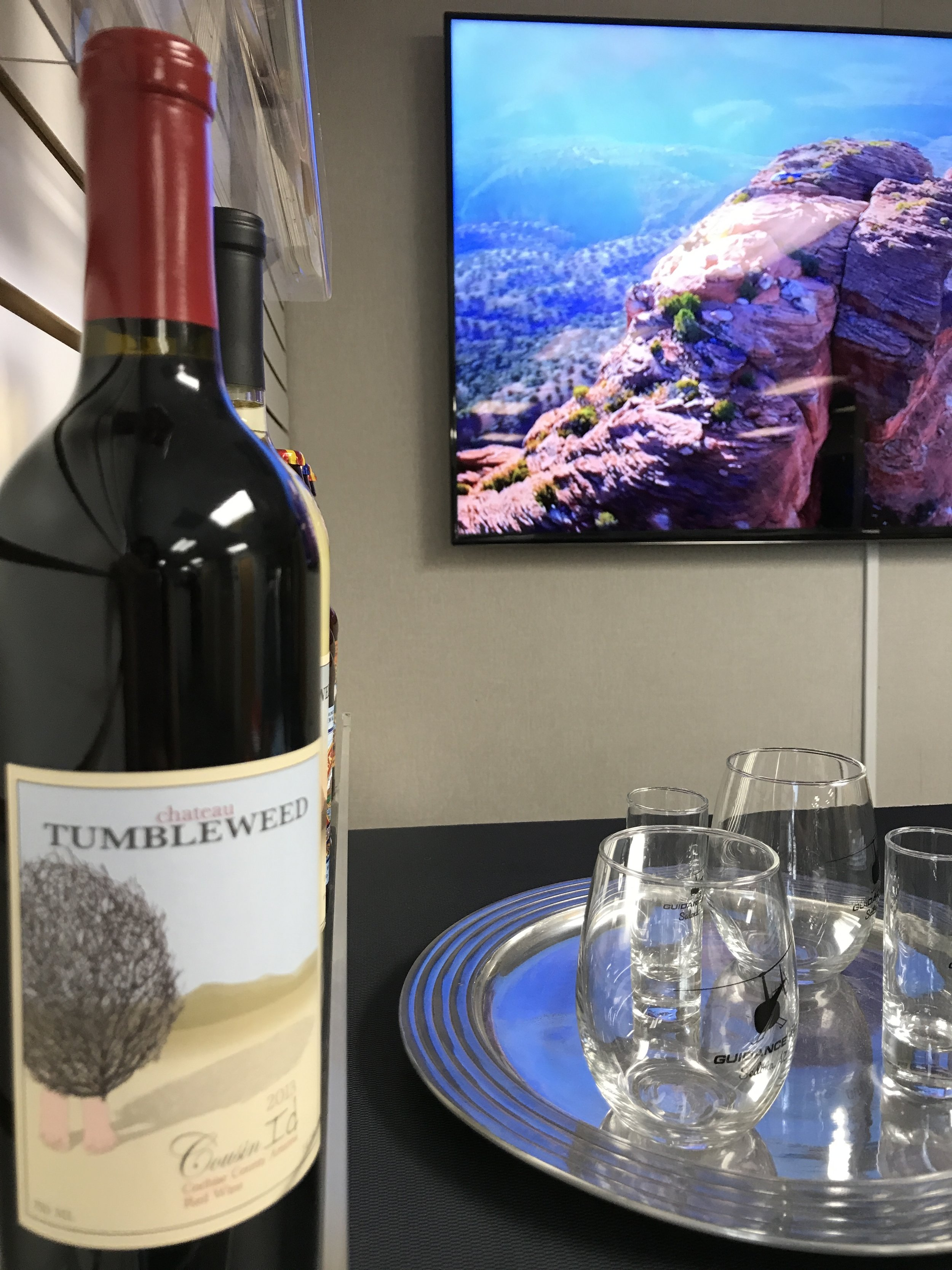 Helicopter tour and wine tasting in Sedona