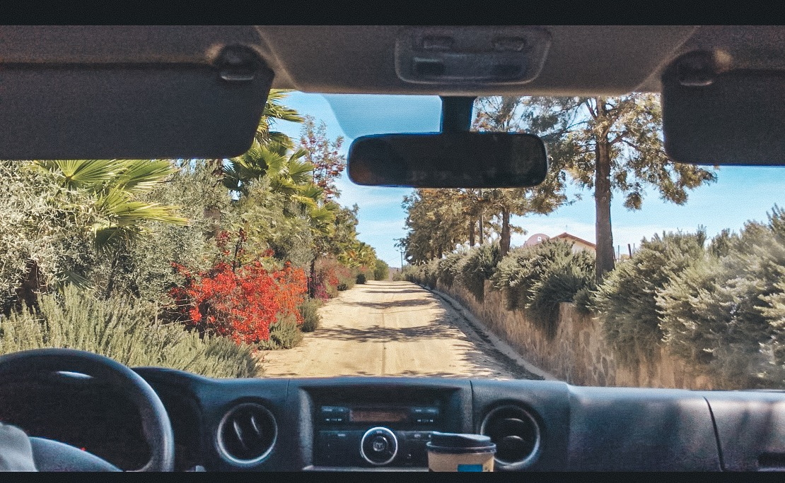 Dirt roads in Valle de Guadalupe with Sibaria Tours