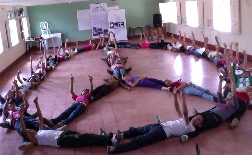 Students in Colombia participate in the original Move This World curriculum.