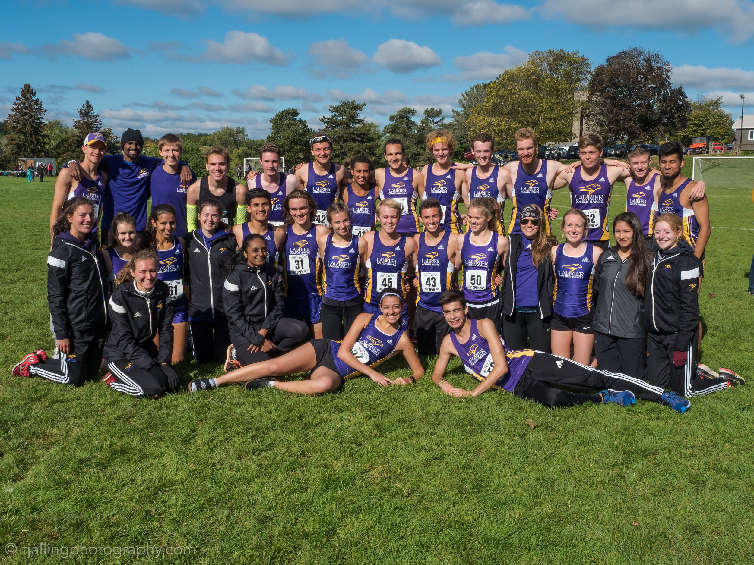The track and field team of Laurier.