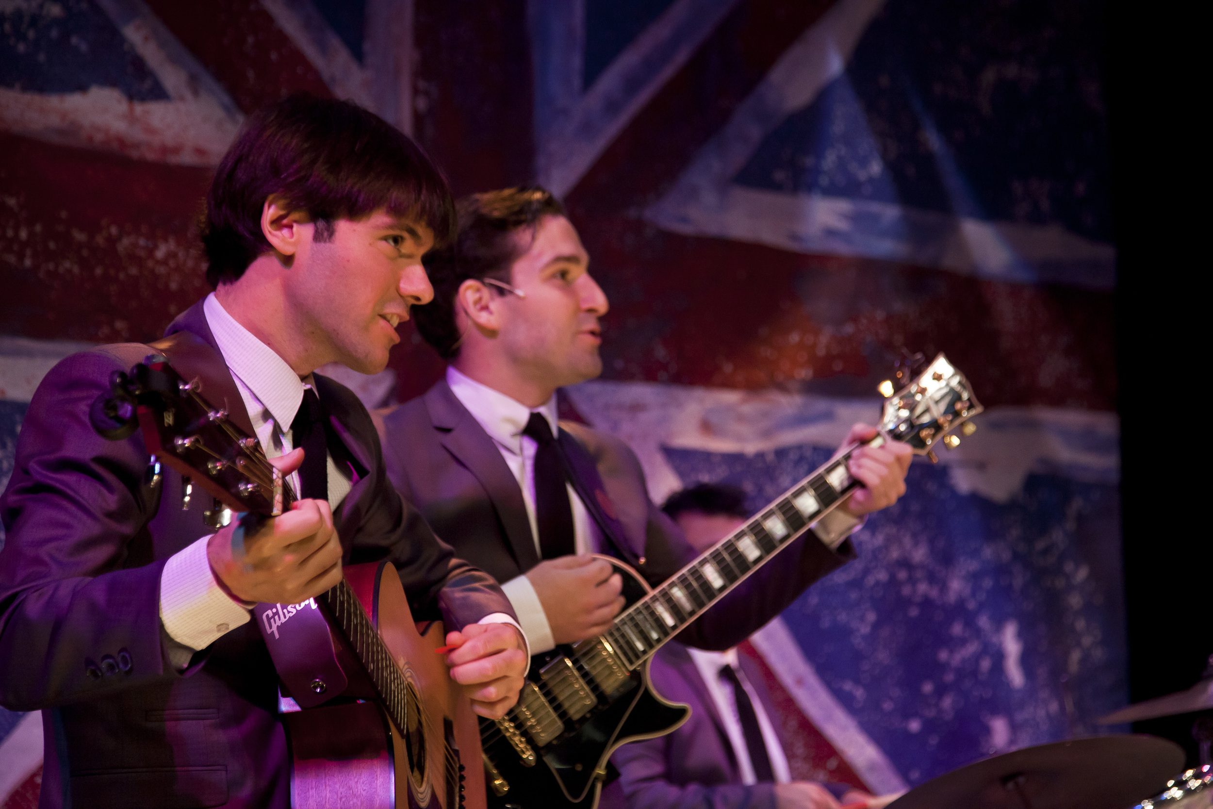Guitarist/vocalist in The Kraze, the band in One Man, Two Guvnors at Florida Studio Theatre (pictured with James Zap, 2015)