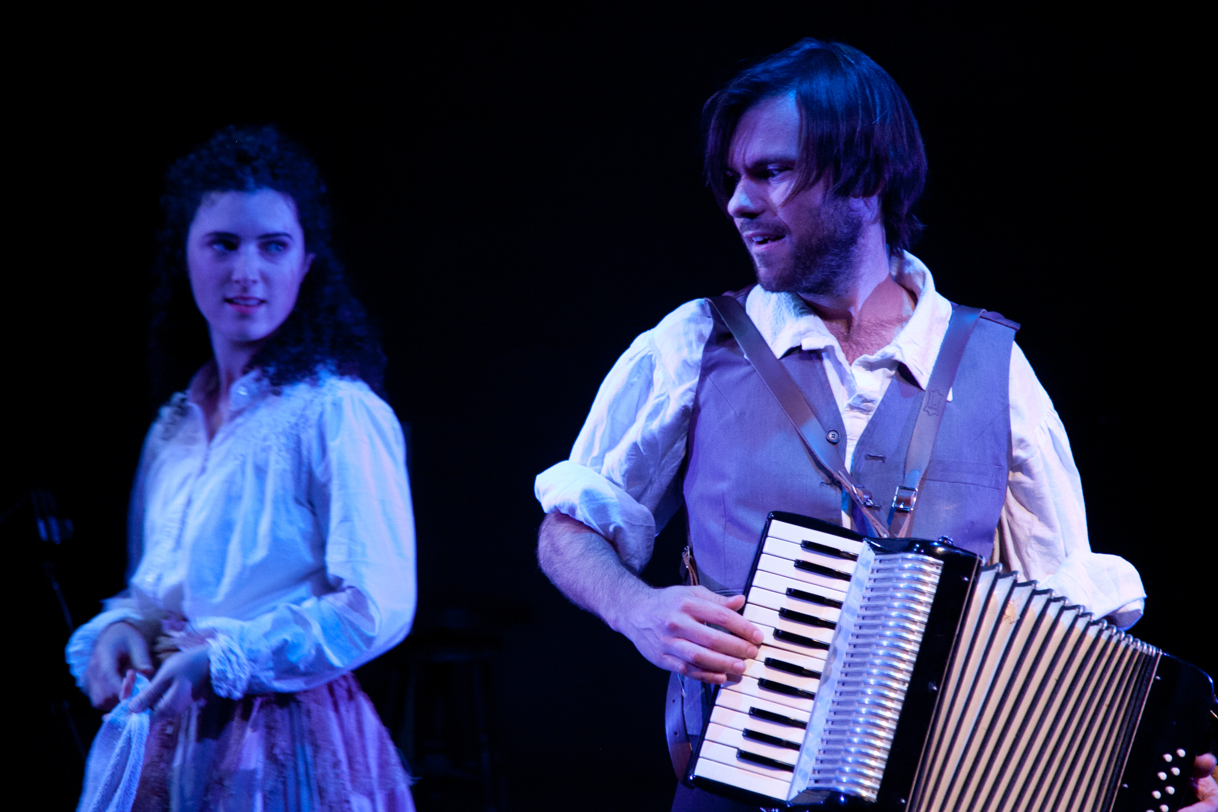 As Percy in SeaWife at New York Stage and Film (pictured with Eloise Eonnet, 2014)