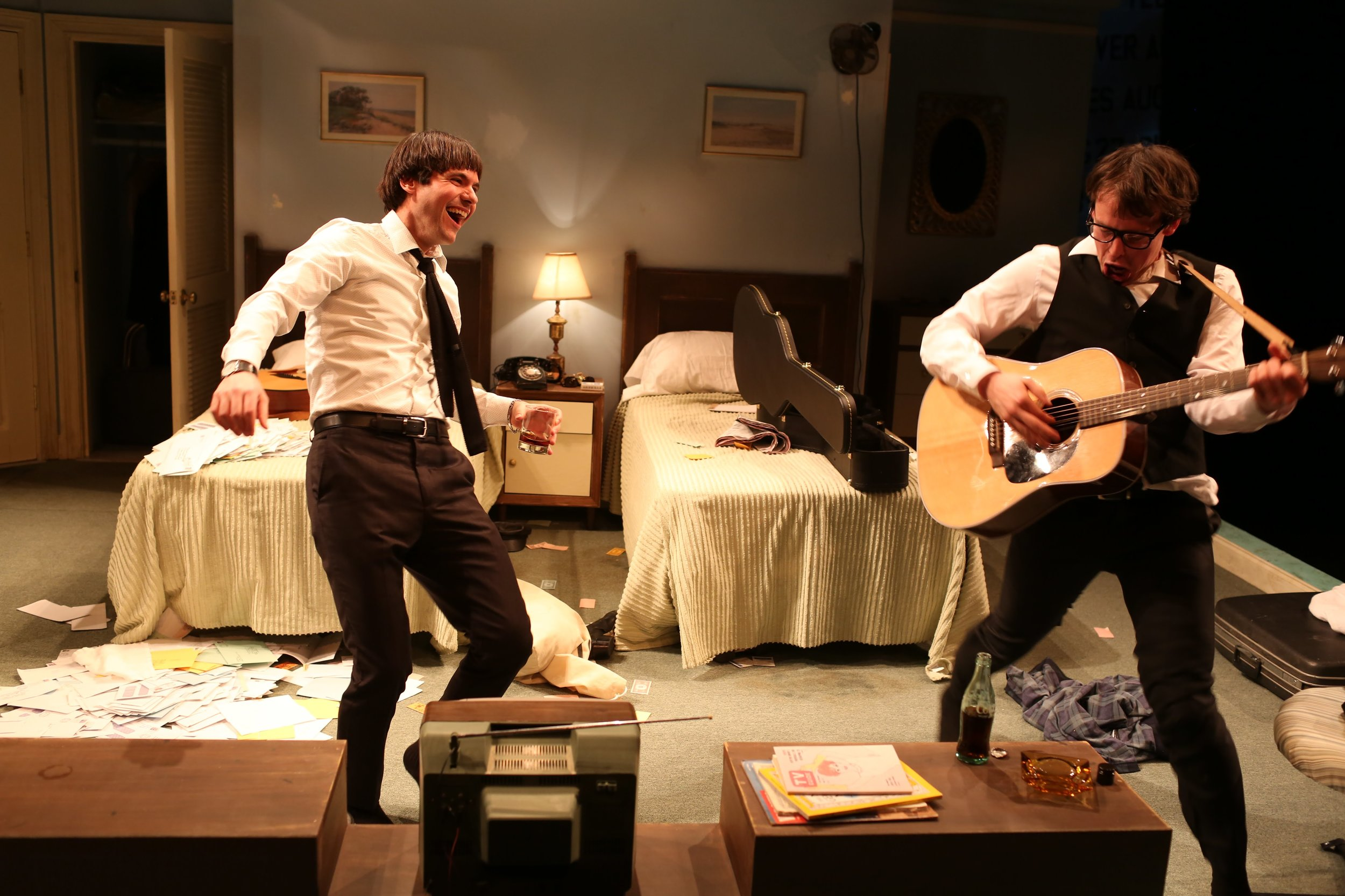 As Paul McCartney in Only Yesterday at Northern Stage (pictured with Christopher Sears, 2018)
