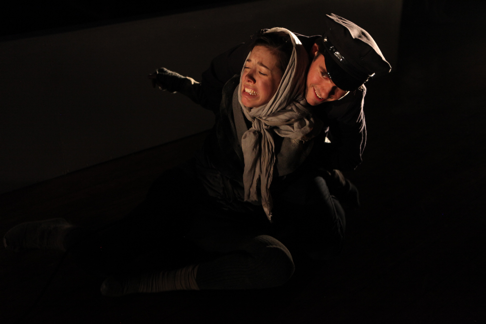 As The Carrier in These Seven Sicknesses at The Flea (pictured with Katherine Folk-Sullivan, 2012)