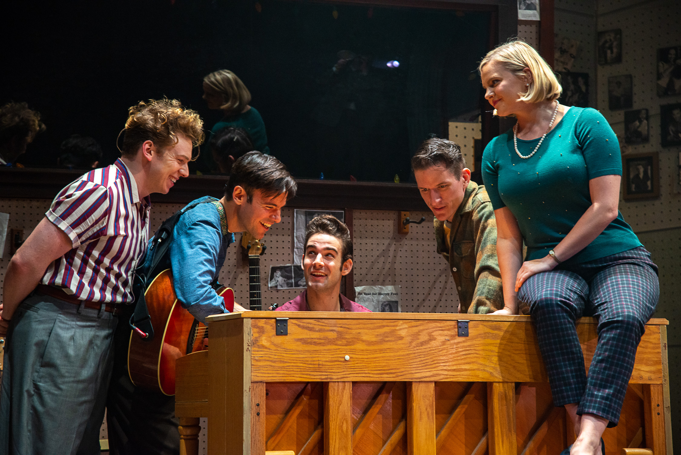 As Carl Perkins with the cast of Million Dollar Quartet at the Weston Playhouse, Weston, VT (2018)