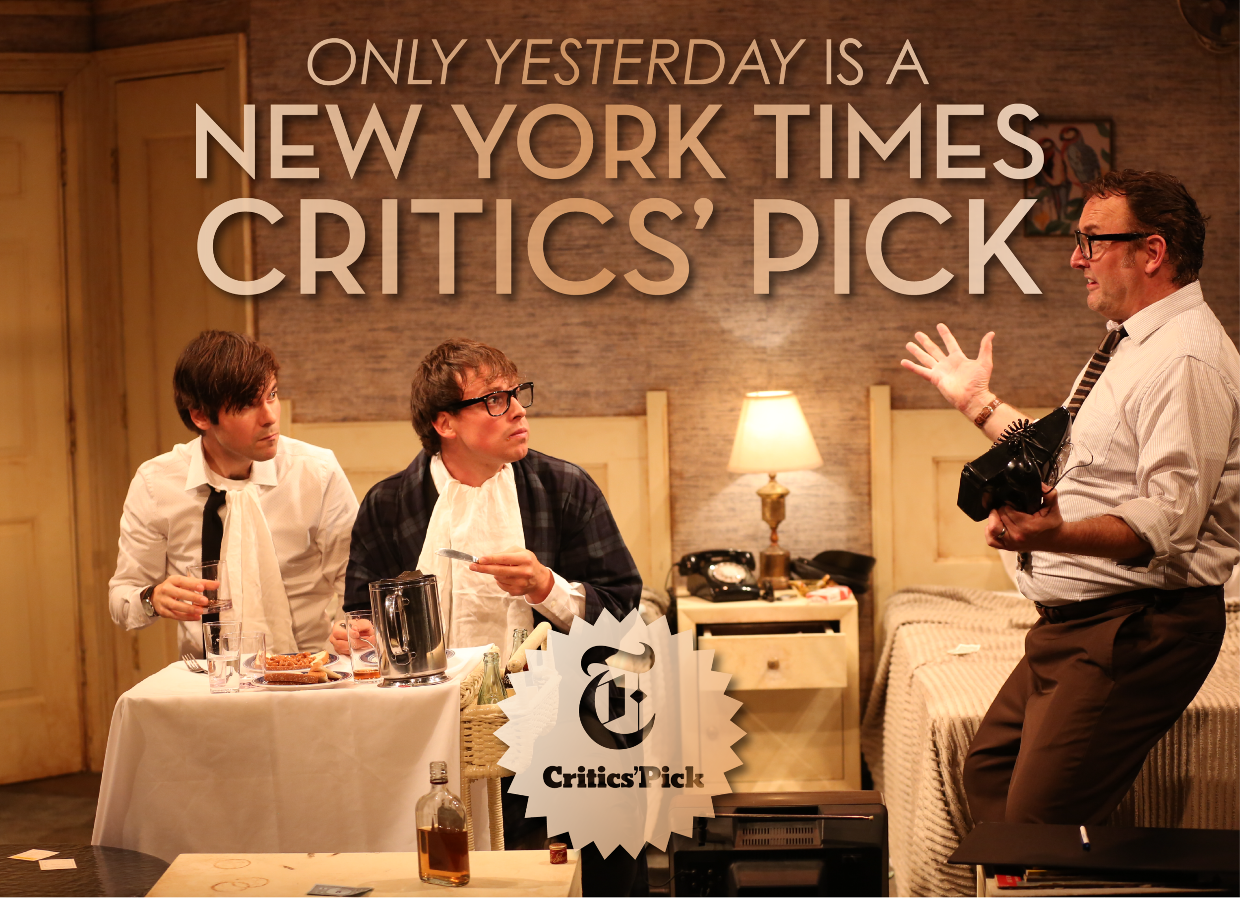 Tommy plays Paul McCartney in this sold-out, NYT Critics' Pick new play Off-Broadway! The limited engagement run plays through Sept. 29 at 59e59.