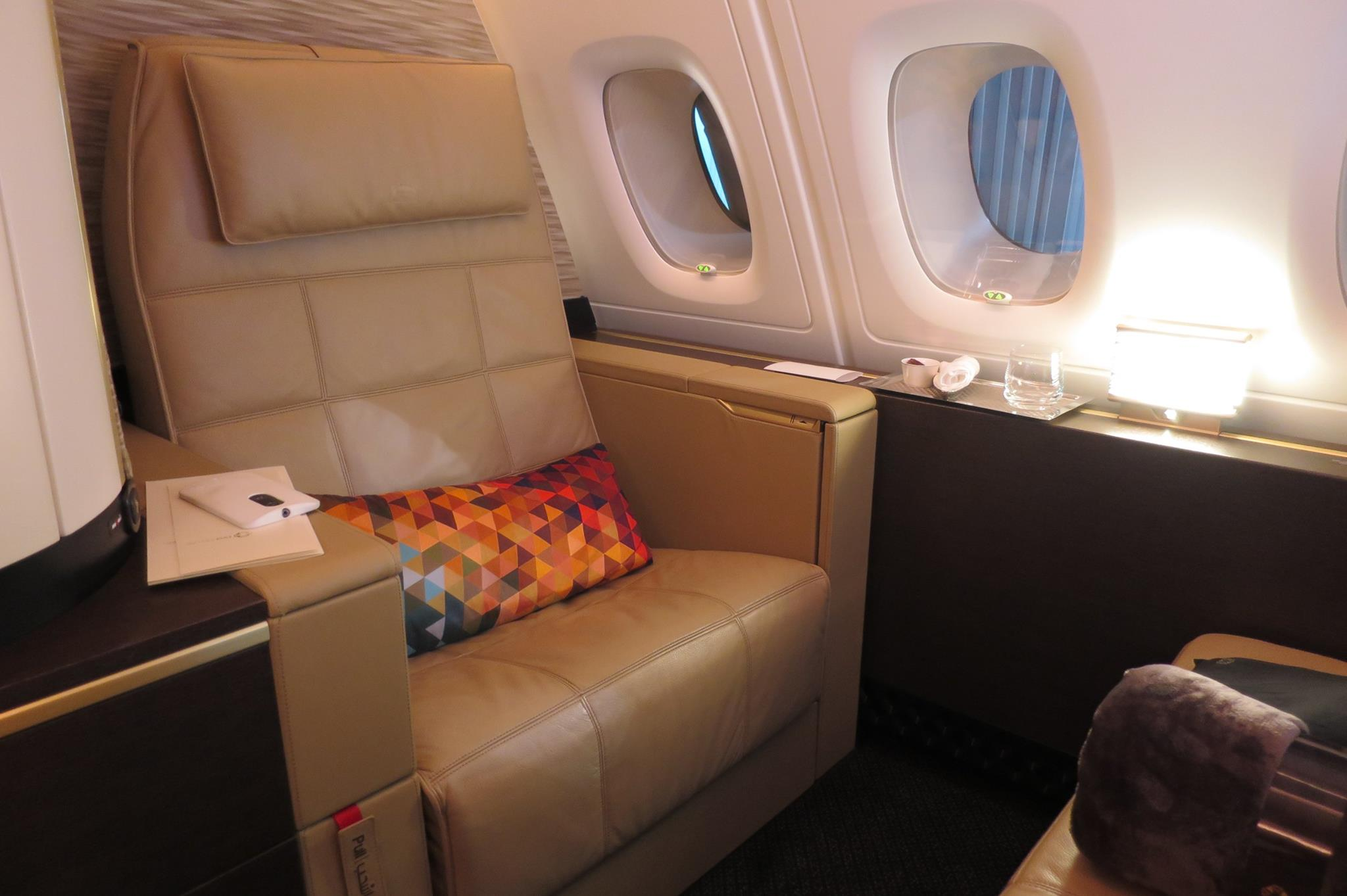 Like the Lufthansa First Class that is being phased out, it has a separate seat and bed