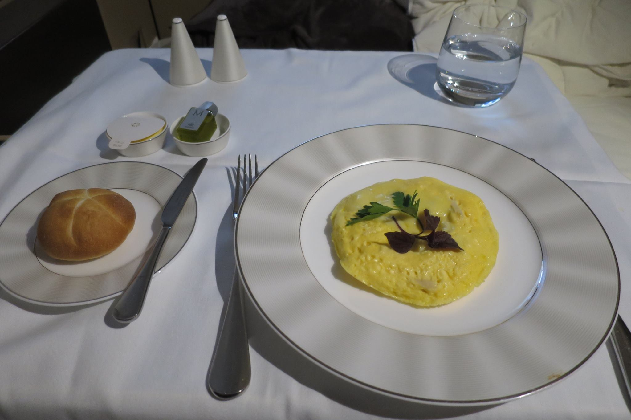 They emphasize that the meal service is anytime, on-demand. Here is a made-to-order omelette