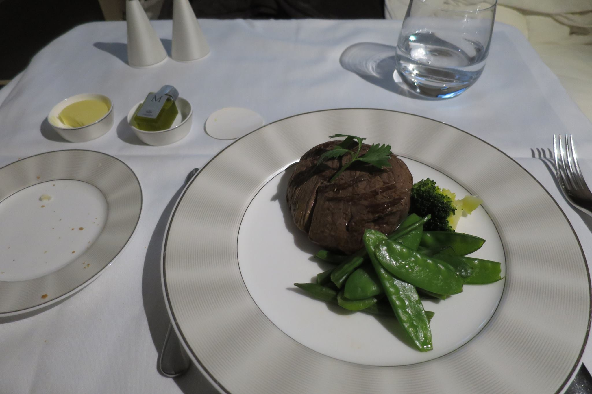 I will say that I've had better steaks on other airlines. It is still quite good