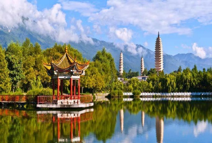 Day 4: Dali, Cangshan, Erhai - Fly to the enchanting ancient city of Dali, instantly recognisable for its three striking pagodas. Visit the breathtaking Cangshan Mountain before looking out across Erhai, one of the biggest fresh water lakes in China.