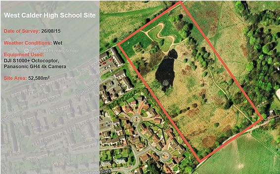 West Calder High School Site survey