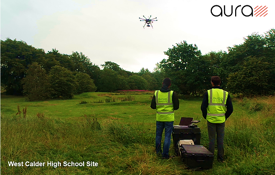 West Calder High School Site Aerial Survey Inspection