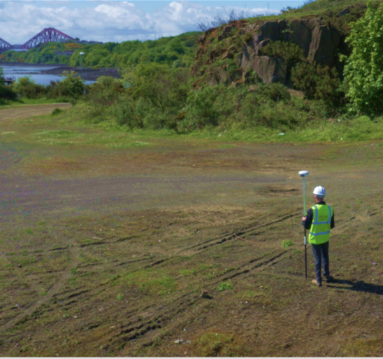 While our surveyors are hard at work surveying the topography on the ground with Trimble gear, our aerial surveyors are recording data from the air. This picture was taken from the DJI S1000+ during a large survey outside of Edinbrugh.   Click to find out more about our aerial drone survey services