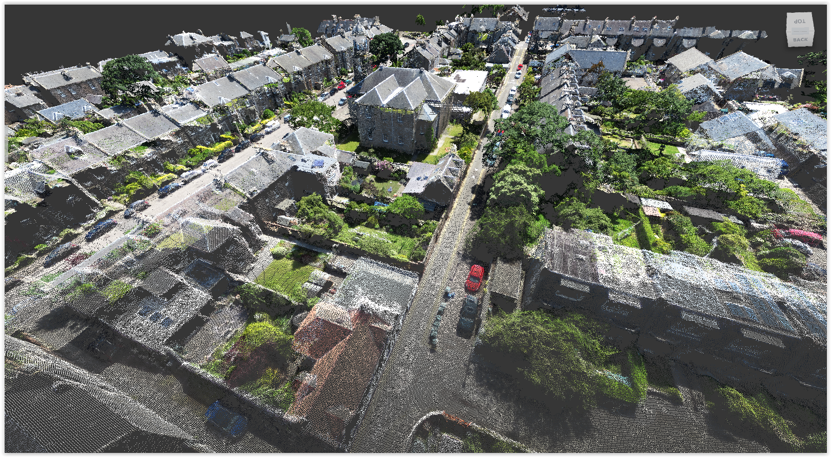 Our client was keen to capture the roof but, because it was a tight site with limited roof access, scanning wasn't an option... so we unleashed the Sensefly, fixed-wing drone.  We launched from Portobello Beach on a quiet morning and, setting the Church as a 'point of interest', the drone did its thing completely autonomously.