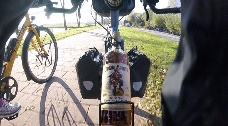 Captain Morgan Cam using the GoPro Session on my bike frame.