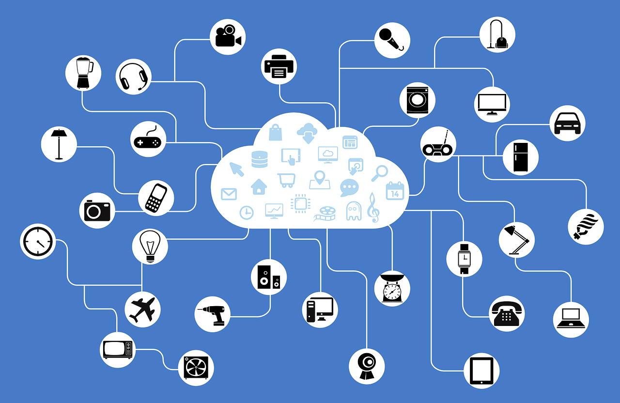 Data storage and processing for IoT devices happens remotely using Cloud technology.
