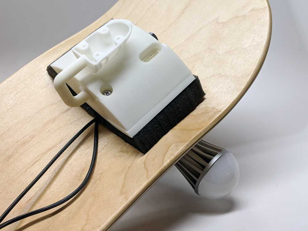 Skateboard Lamp Prototype