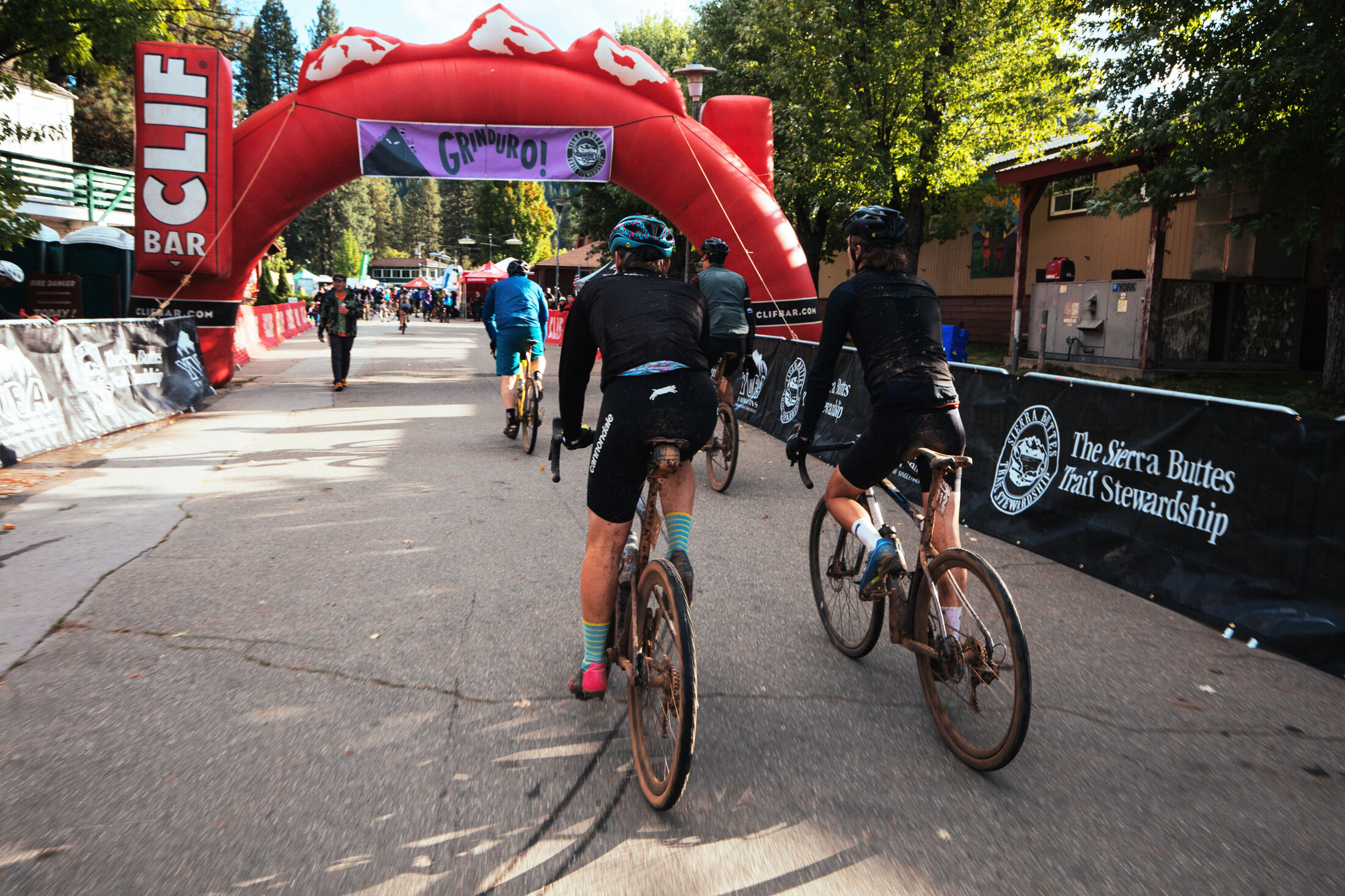 Grinduro 2019 Finish Line Bike Race