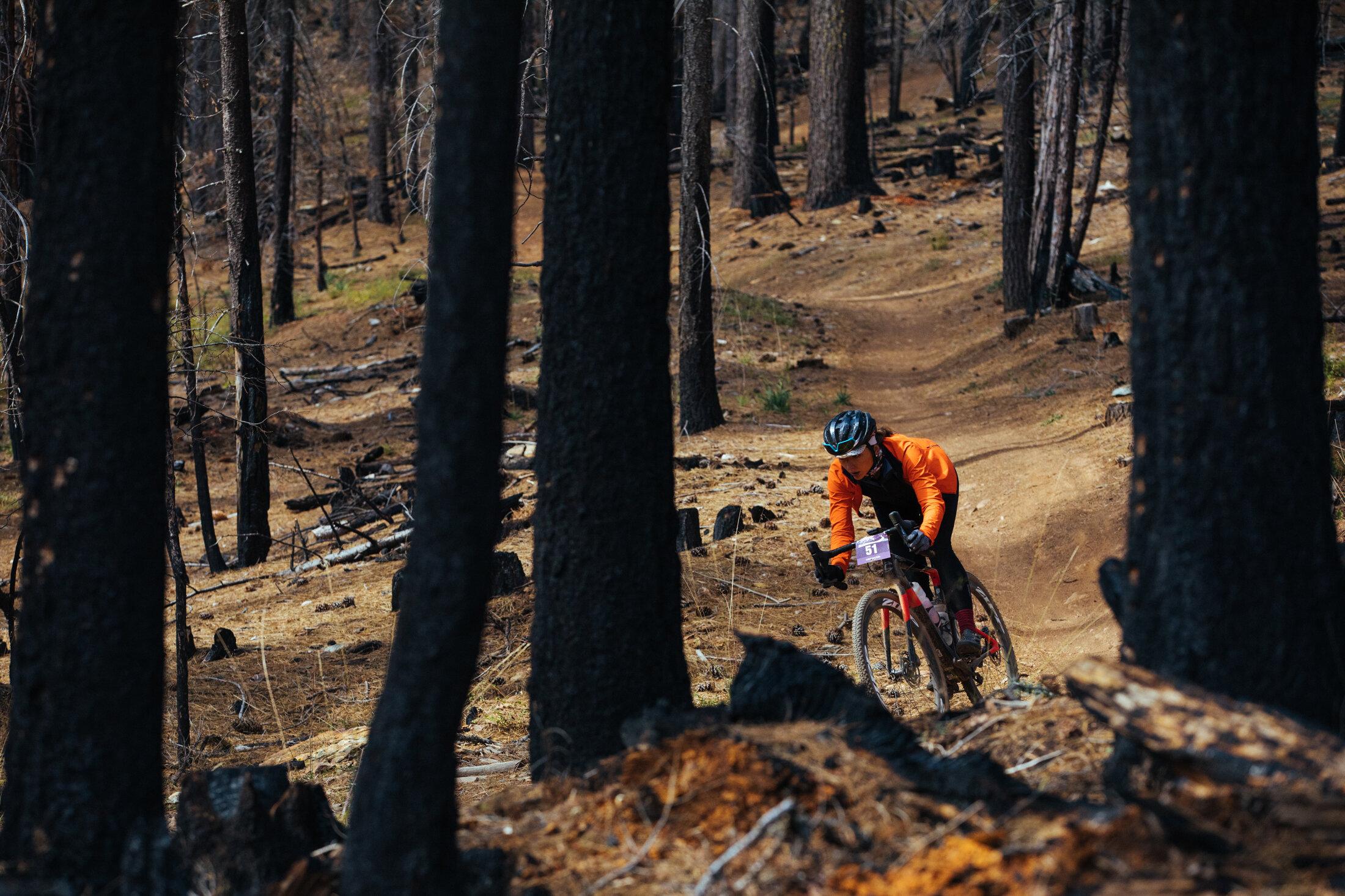 Laura King Pregnant Gravel Bike Race