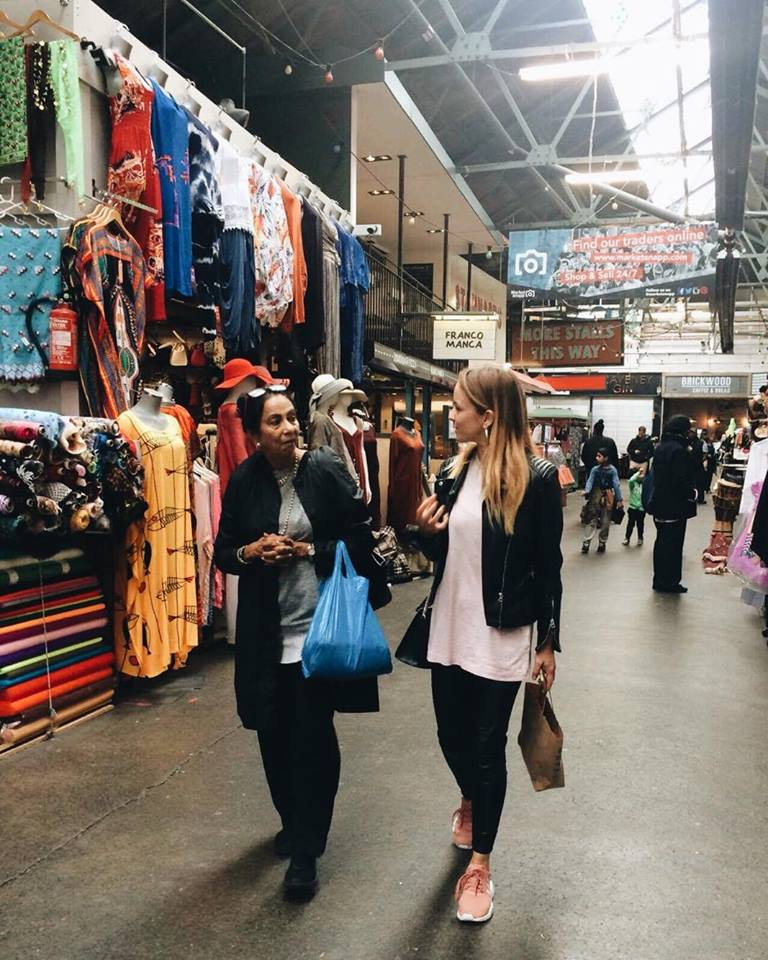 Me and Ma at Tooting Market 2016