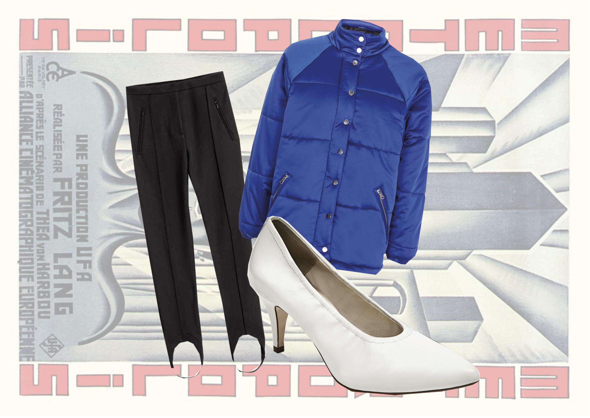 LEGGINGS:  H&M    SHOES:  Zara    PUFFER JACKET:  Topshop