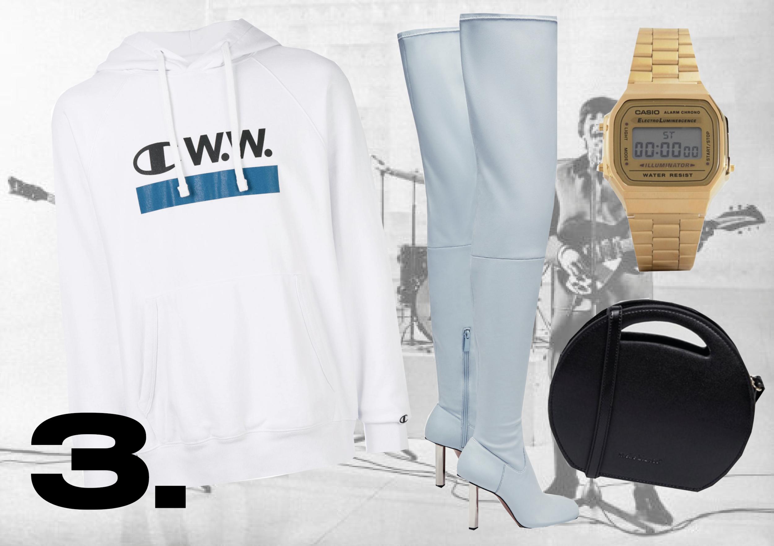 HOODIE: Champion X WoodWood | BOOTS:  Zara  | BAG:  ASOS  | WATCH:  Casio @ ASOS