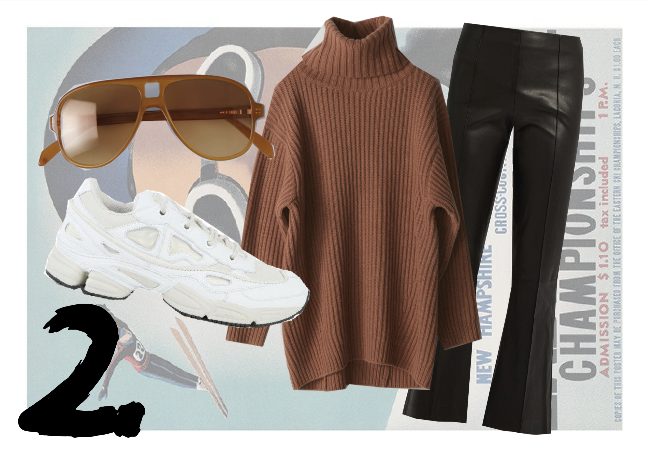 SNEAKERS:  Ozweego by Raf Simmons  | SUNGLASSES:  Acne  | JUMPER: Acne  | TROUSERS:  The Row