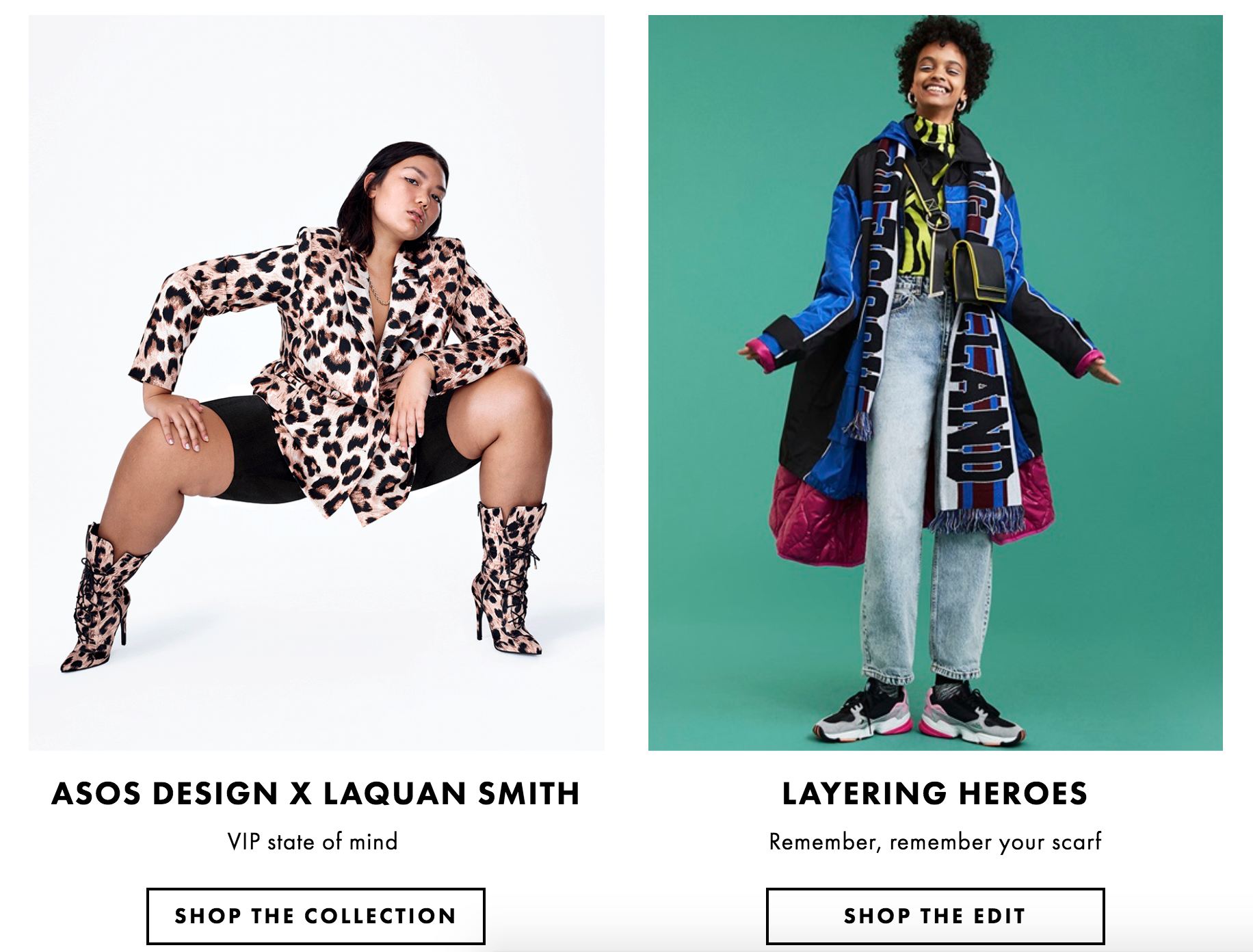 ASOS DESIGN x LaQuan Smith | Lead Editor on the project and responsible for writing the campaign messaging for global social and ASOS homepage.