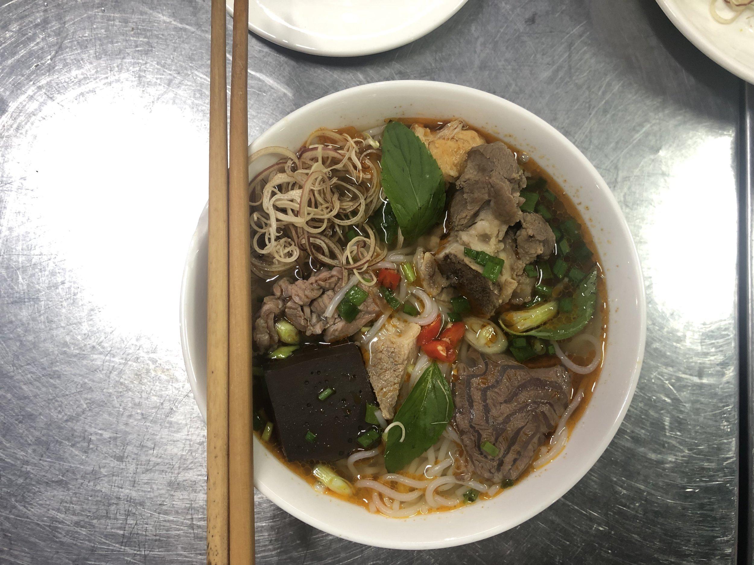 Bún Bò Huế (Huế beef noodles) in Huế