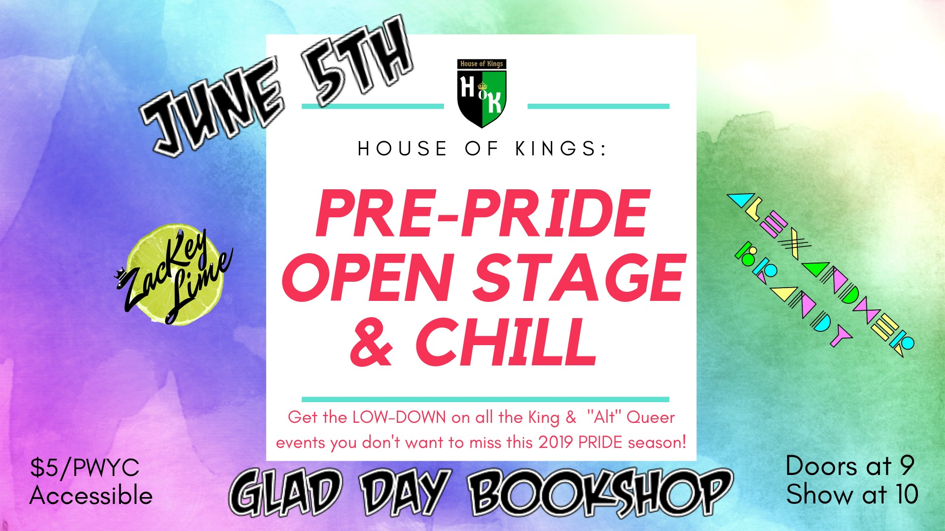 House-of-Kings-Pre-Pride-Open-Stage&Chill
