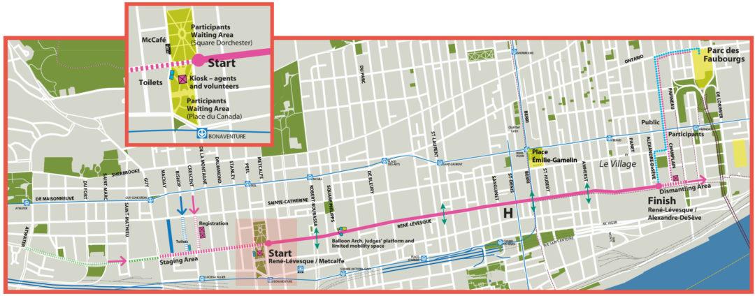 Parade Route - Source: fiertemtl.com