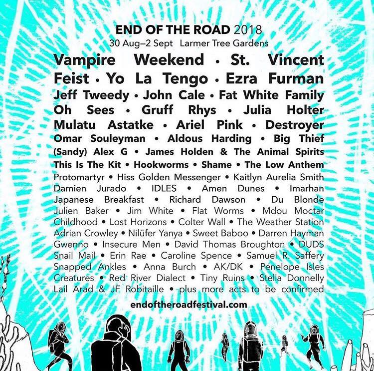 Very excited to be playing at this year's  End Of The Road Festival with the  Lost Horizons family. Boss line up x