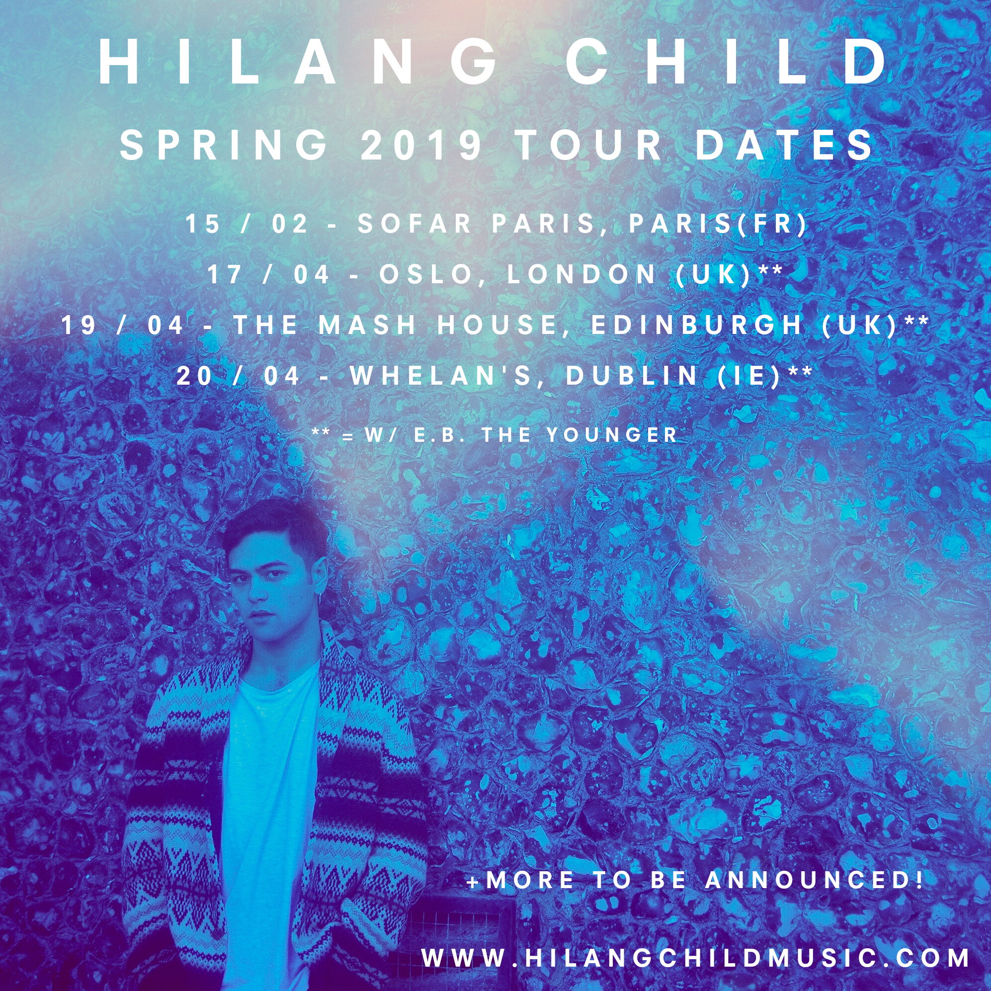 Spring live dates + MORE TBA — Hilang Child