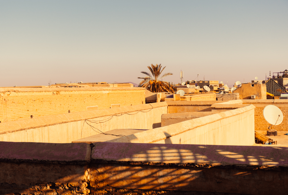 Approaching sunset from the beautiful terrace of our home away from home,  Bliss Riad .