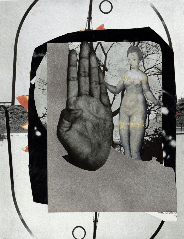 Circe 29,3 x 22,7 cm Collage sur papier 2017