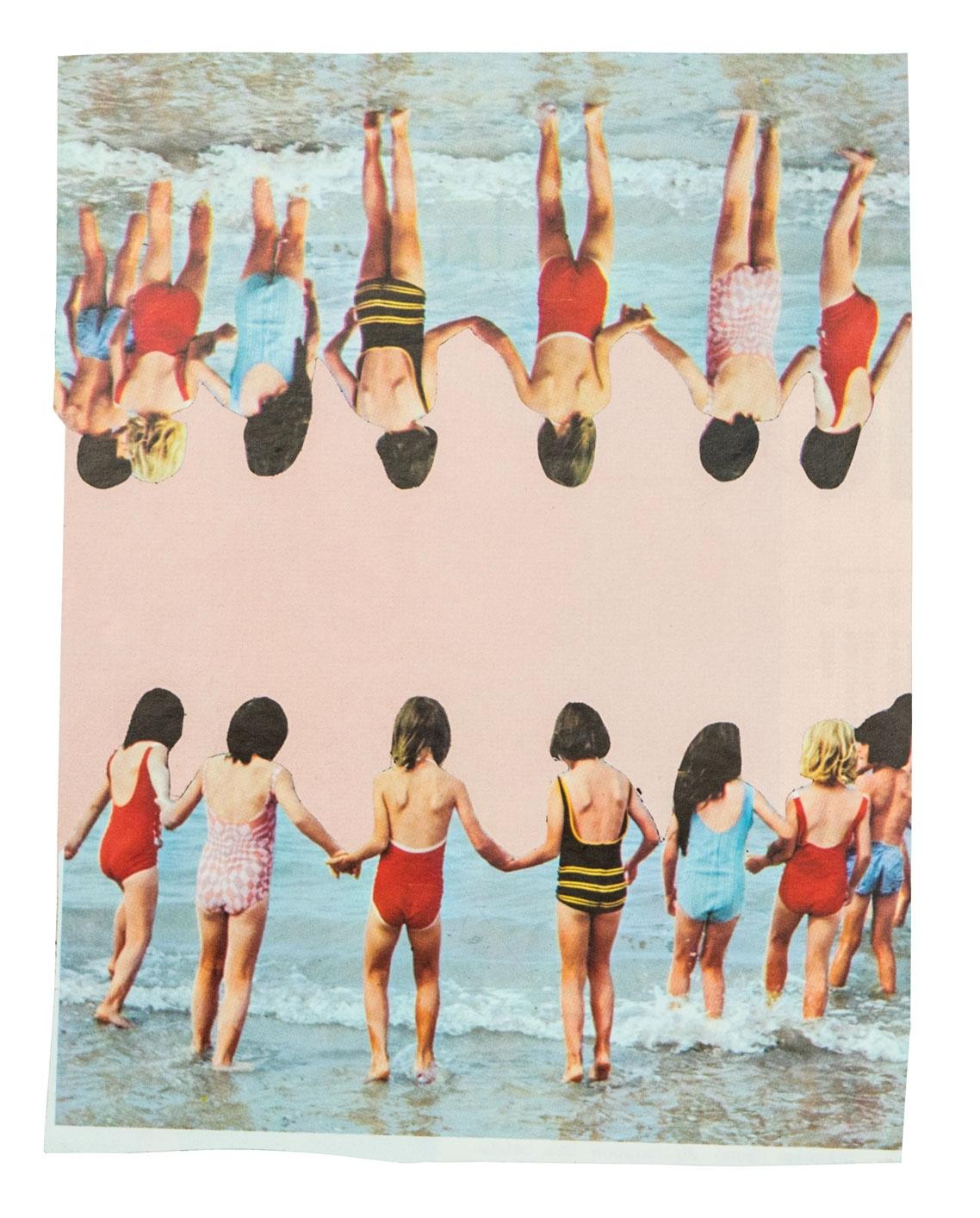 Dziewczynki 18 x 14 cm Collage sur papier 2017