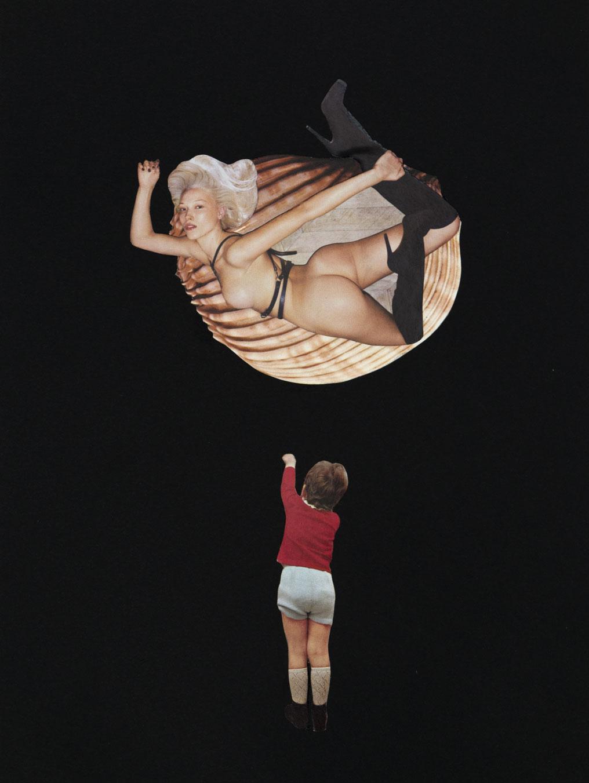 Milena 30,2 x 22,2 cm Collage sur papier 2017