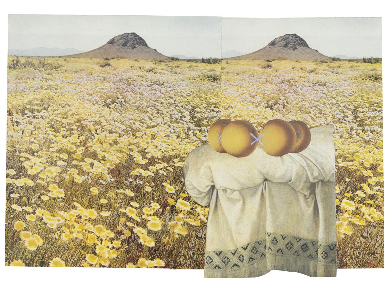 Yellow Field 24,8 x 35,6 cm Collage sur papier 2017