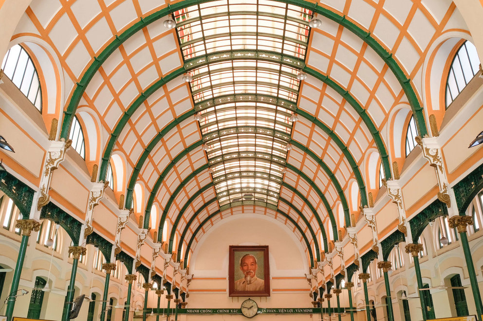 Photo by  @RestlessAndRoving  | Central Post Office | Ho Chi Minh City, Vietnam
